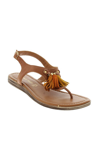 marco et tozzi sandales et nu et pieds femme de couleur marron