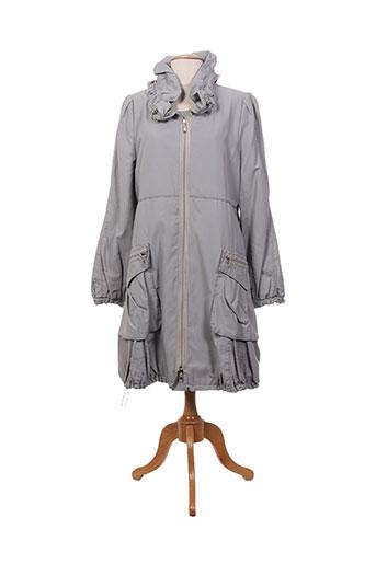 femmes je vous aime manteaux femme de couleur gris