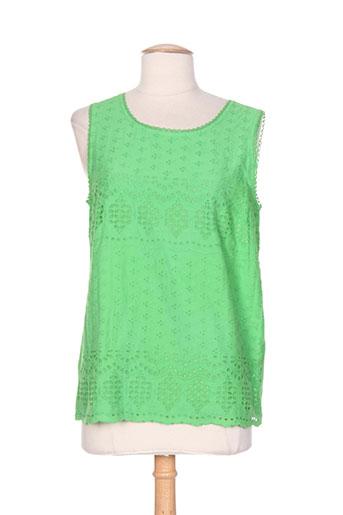 md'm chemises femme de couleur vert