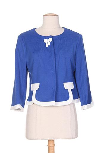 poupee chic vestes femme de couleur bleu