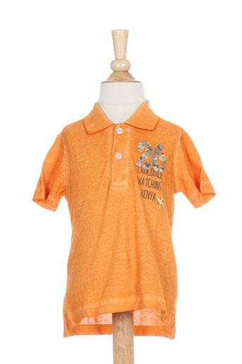 T-shirt manches courtes orange BIRBA BY MAULI pour garçon