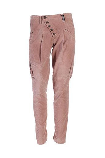 high pantalons et decontractes femme de couleur marron