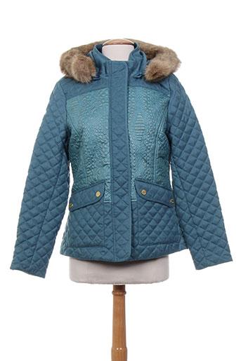 bearwood manteaux femme de couleur bleu