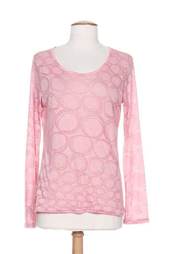 mielo moda t-shirts femme de couleur rose