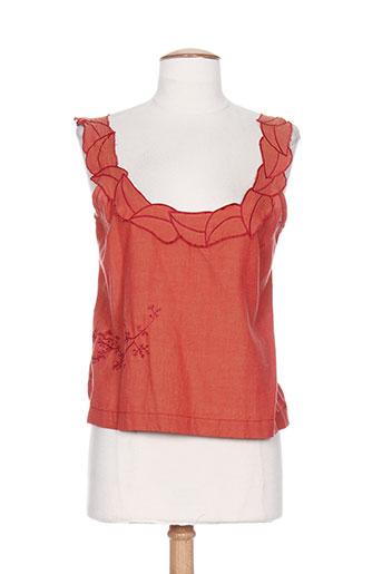 malia b chemises femme de couleur orange