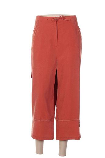 maille indigo pantacourts femme de couleur orange