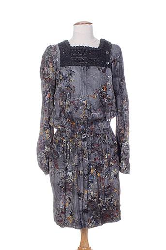 high robes femme de couleur gris