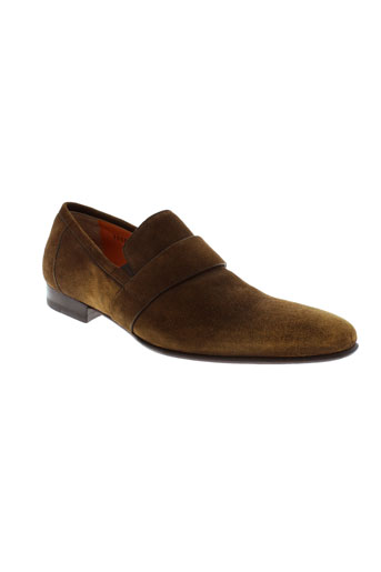 santoni mocassins homme de couleur marron