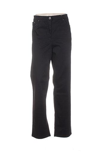 sbelt jeans pantalons femme de couleur noir