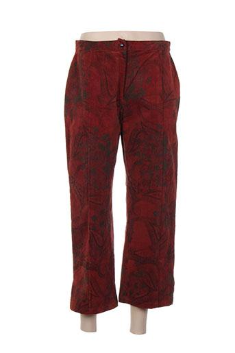 coco menthe pantacourts femme de couleur rouge