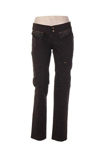 Pantalon casual marron HYBRIS pour femme