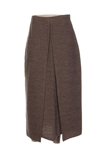 cannisse jupes femme de couleur marron