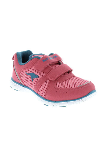 kangaroos chaussures fille de couleur rose