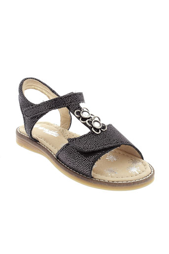 babybotte sandales et nu et pieds fille de couleur noir