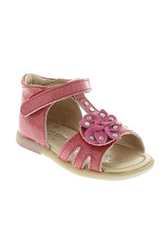 babybotte sandales et nu et pieds fille de couleur rouge