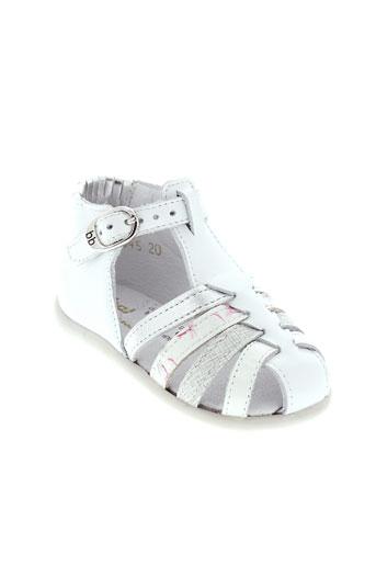 babybotte sandales et nu et pieds fille de couleur blanc