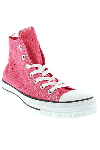 converse baskets femme de couleur rose