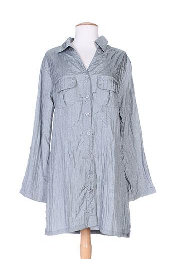 taganana chemises femme de couleur gris