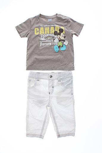 disney t et shirt et pantalon garcon de couleur marron