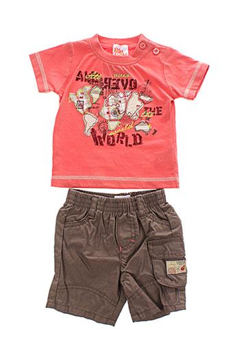 p et tites et canailles t et shirts et shorts garcon de couleur orange