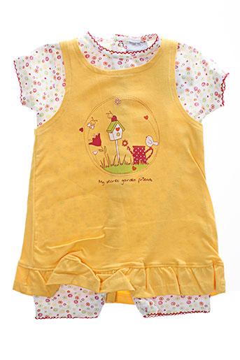 wiplala t et shirt et pantalon fille de couleur jaune
