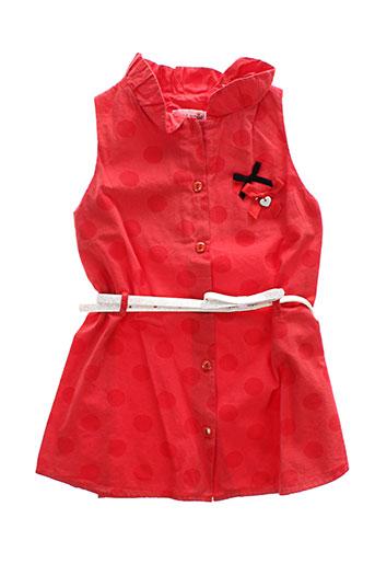 berlingot robes fille de couleur rouge