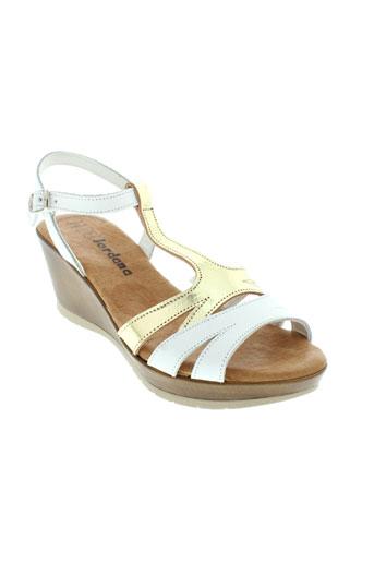 jordana sandales et nu et pieds femme de couleur blanc