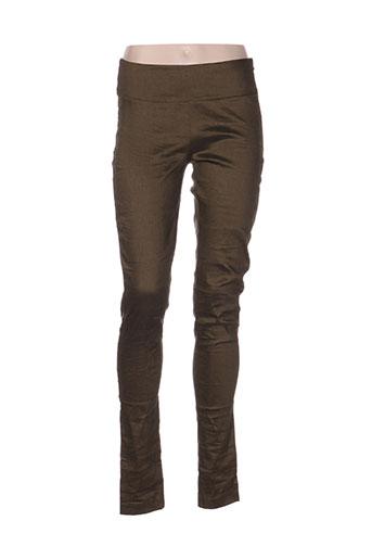 sarah pacini pantalons femme de couleur vert