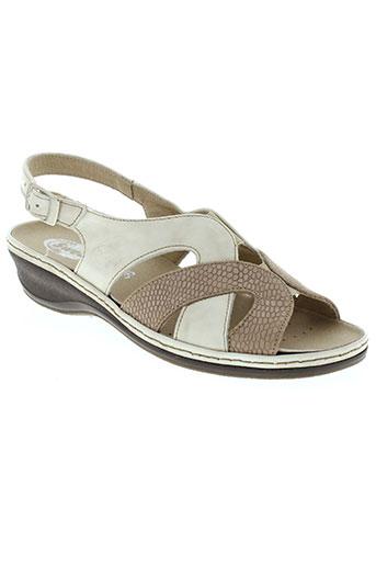 swedi sandales et nu et pieds femme de couleur beige