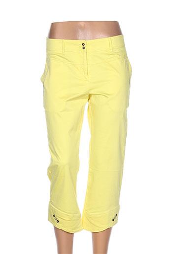 garella pantacourts femme de couleur jaune