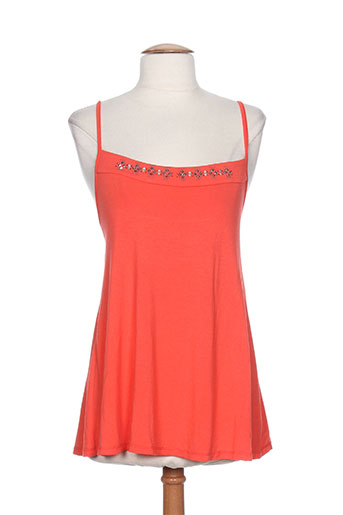 garella chemises femme de couleur orange