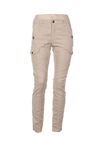 cream pantalons et decontractes femme de couleur beige