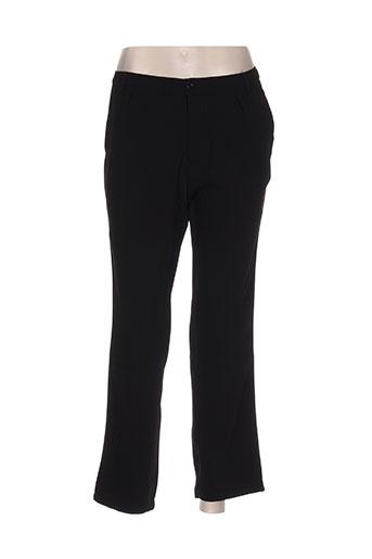little marcel pantalons femme de couleur noir