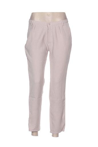 little marcel pantalons femme de couleur beige