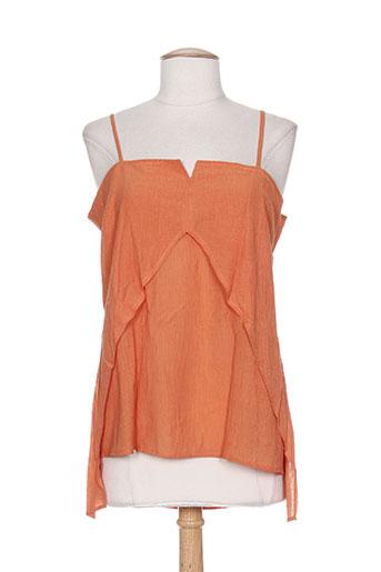 little marcel chemises femme de couleur orange