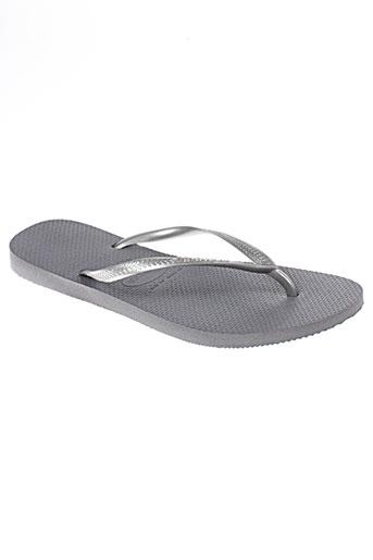 havaianas chaussures homme de couleur gris