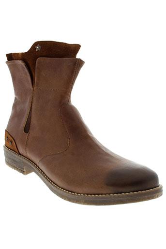 ikks boots femme de couleur marron