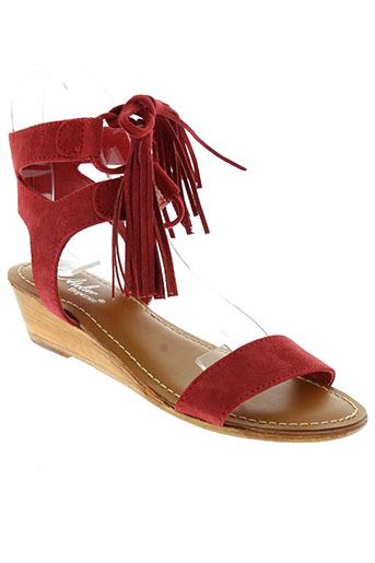 l'atelier tropézien chaussures femme de couleur rouge