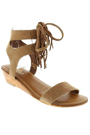 l'atelier tropézien chaussures femme de couleur marron
