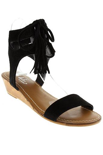 l'atelier tropézien chaussures femme de couleur noir