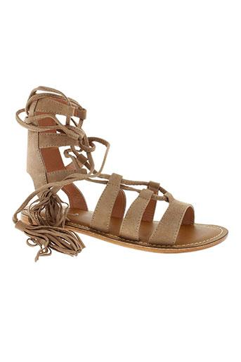 l'atelier tropézien chaussures femme de couleur beige