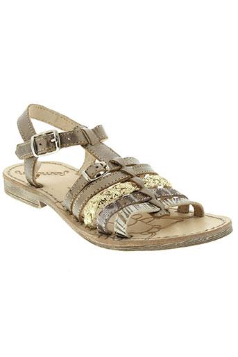 ramdam chaussures fille de couleur marron
