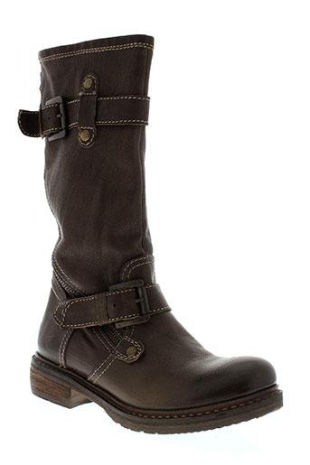 manas bottes femme de couleur marron