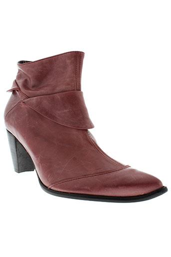 france et mode boots femme de couleur rouge