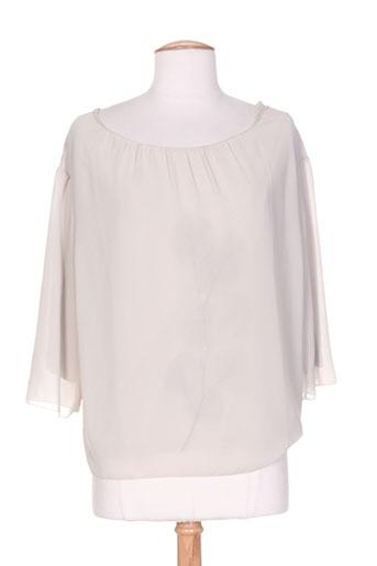 b.yu chemises femme de couleur beige