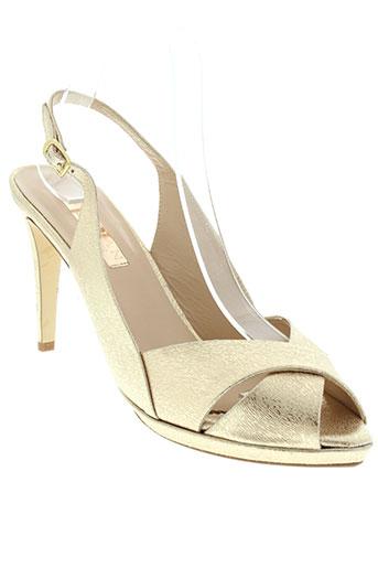 marian sandales et nu et pieds femme de couleur jaune