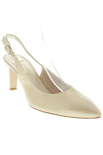 python chaussures femme de couleur beige