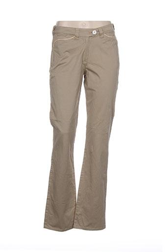 jost pantalons femme de couleur beige