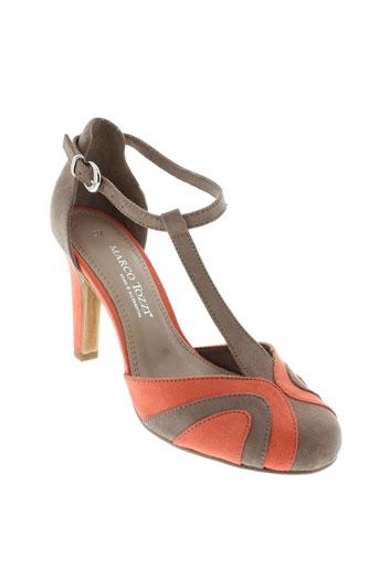 marco et tozzi escarpins femme de couleur orange