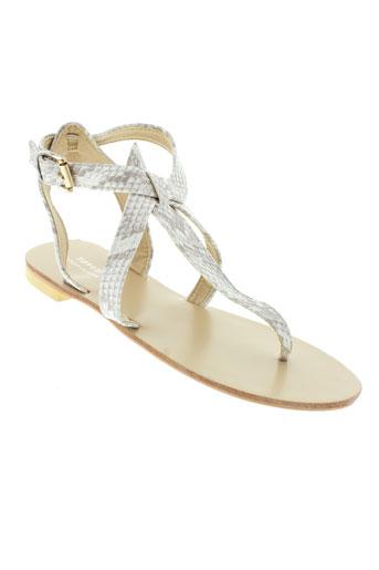tiffosi sandales et nu et pieds femme de couleur gris